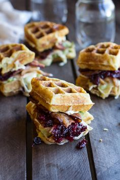 Yummy Brunch Sandwiches Made With Brie, Avocado, Cranberry, and Turkey