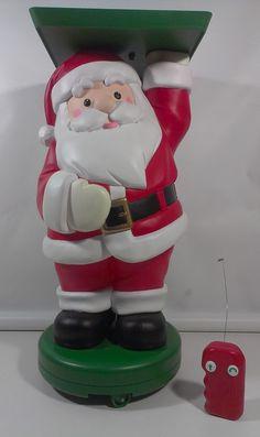 RARE Mr Christmas Remote Controlled RC Serving Santa Figure