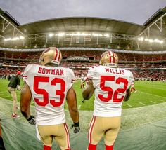 Best ILB duo in the NFL. Navorro Bowman and Patrick Willis #SFvsJAX #49ers
