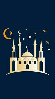 Moon And Stars Wallpaper, Planets Wallpaper, Star Wallpaper, Eid Wallpaper, Ramadan Photos, Ramadan Images, Islamic Wallpaper Iphone, Wallpaper Iphone Cute, Wallpaper Ramadhan