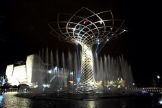 #TheOpening. The lights of the Tree of Life in #Expo2015's exhibition site. Tomorrow we start. Join us!