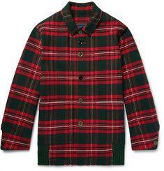 UndercoverChecked Cotton-Flannel Shirt Jacket