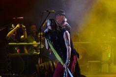 lady in black: Aerovederci with Aerosmith in Krakow  #aerosmith #krakow #steventyler #livemusic #concertphotography #baw #blackandwhite #touring #aerovederci #live #shot