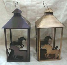Our Horse Lantern comes in various colours - made from recycled material - perfect gift for those who love both candles and horses