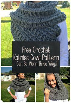 FREE Katniss Cowl Crochet Pattern! Gorgeous design, plus it can be worn three different ways!