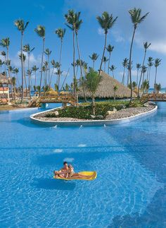 Dreams Punta Cana All Inclusive Resort in the DR: Photo, Island in Pool