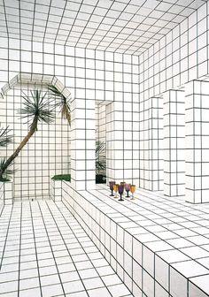White // Tiles // Palmtree