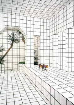 White // Tiles // Palmtree