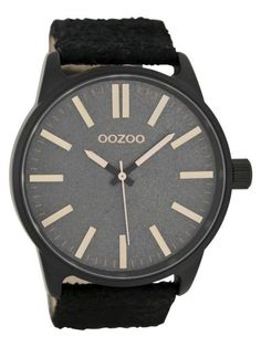 OOZOO C7468 Timepieces Black/rose herenhorloge