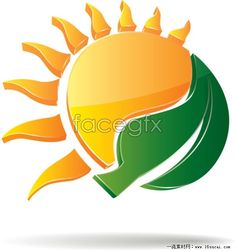3D cartoon Sun graphic vector