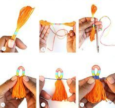 Making Tassels DIY with Embroidery Floss from DMC.