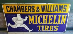 Michelin Man, Michelin Tires, Vintage Signs, Vintage Ads, Tyre Companies, Gas Pumps, Old Signs, Oil And Gas, Gas Station