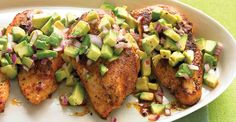 Cayenne-Rubbed Chicken With Avocado Salsa #healthy #chicken #breasts #recipes
