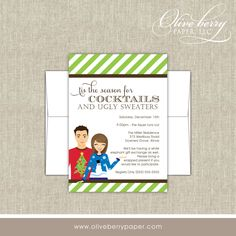 Ugly Sweater Party Invitations.