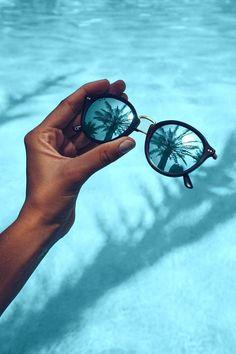 Maui Matt Tortoise Blue Mirrored by Kapten & Son Blue Aesthetic Pastel, Beach Aesthetic, Aesthetic Colors, Summer Aesthetic, Aesthetic Pictures, Aesthetic Gif, Aesthetic Collage, Bedroom Wall Collage, Photo Wall Collage