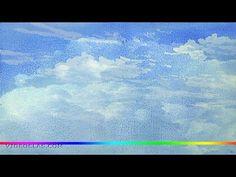 Акварель - как просто нарисовать облака (интересный способ)