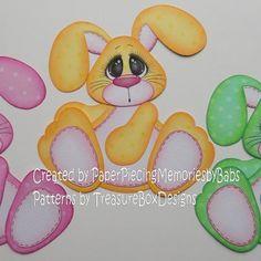 Easter Bunny (Scrapbook Paper Piecings)