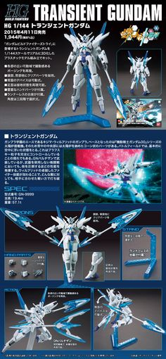 HGBF 1/144 TRANSIENT GUNDAM UPDATE Official Images, assembled too. Info Release http://www.gunjap.net/site/?p=236006