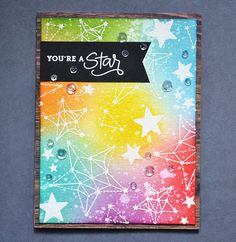 Simon Says Stamp August Card Kit - Rainbow Galaxy | > Video:… | Flickr