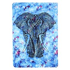 Indian Elephant Tapestry Colored Printed Decorative Mandala Tapestry Unisex Beach Towel Yoga Mat Blanket Wall Carpet S/L Wall Carpet, Rugs On Carpet, Carpets, Elephant Bleu, Indian Elephant, Beach Bedspreads, Plastic Carpet Runner, Elephant Tapestry, Color
