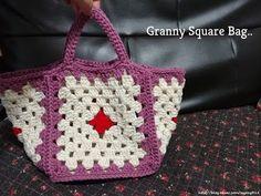 (코바늘) 그래니 스퀘어 백 - (crochet) Granny square bag