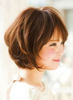 25 Latest Bob Hairstyles with Bangs 2017 Layered Bob with Bangs Related Trendy Styles of Bob Haircuts for Fine Inspiring Long Bob Hairstyles and Short Layered Bob Haircuts With Side Swept Bangs That Make You Look Younger Bob Hairstyles For Thick, Bob Hairstyles With Bangs, Bob Haircut With Bangs, Long Bob Haircuts, Haircut For Thick Hair, Hair Bangs, Layered Hairstyles, Haircut Medium, Haircut Long