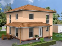 Fassadenfarbe mediterran  Florenz - #Einfamilienhaus von HELMA Eigenheimbau AG   HausXXL ...