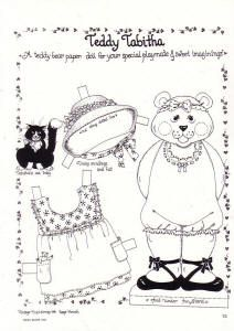 Free Teddy Tabita Paper Doll To Color With 1 And 4 Pages Of Clothing
