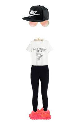 """""""Untitled #2272"""" by misnik ❤ liked on Polyvore featuring WithChic, Ray-Ban, Hoorsenbuhs, NIKE, women's clothing, women, female, woman, misses and juniors"""