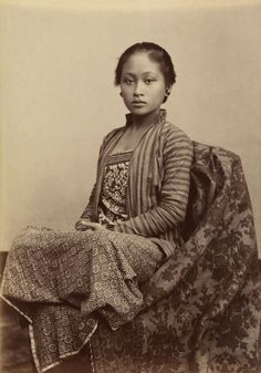 "fishstickmonkey:  "" Kassian Céphas  Indonesia 1845-1912  Young Javanese woman  c. 1885  Albumen silver photograph  13.7 x 9.8 cm  Collection National Gallery of Australia  """