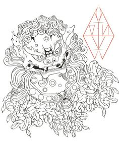 Foo dog by AhoiInk on deviantART. Thinking about adding some body work to the tattoo day.