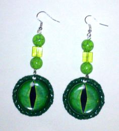 I just listed Green Dragon Eyes Earrings on The CraftStar @TheCraftStar #uniquegifts