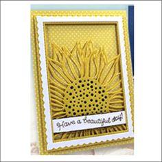 Flower metal die - Sunflower Background Frame by Impression Obsession cutting dies DIE515-YY univers