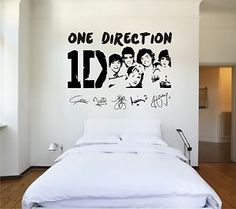 One Direction 1D Faces Vinyl Wall Art   Stickers Decals Vinyl Transfers |  EBay