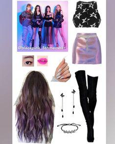 Kpop Fashion Outfits, Stage Outfits, Dance Outfits, Womens Fashion, Pink Fashion, Purple Outfits, Fall Outfits, Purple Dress, Ropa Hip Hop