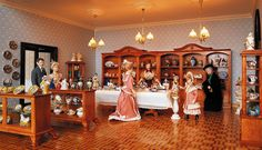 The porcelain department in the largest miniature department store in the world.