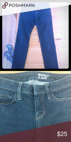 Shop Women's Uniqlo Blue size 24 Skinny at a discounted price at Poshmark. They look like they came right from the store. Uniqlo Jeans, Jeans Size, Skinny Jeans, Best Deals, Store, Pants, Closet, Things To Sell, Fashion