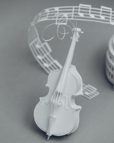 Another musical instrument....Paper sculpture by Mandy Smith