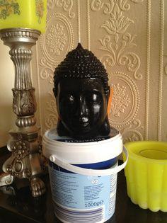 Een Boeddha kaars zelf gemaakt
