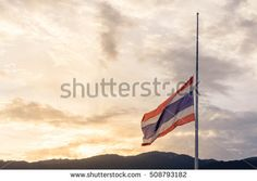 Thailand half-mast to mourn the sacrifice of the important person