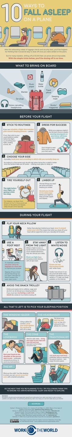 10 Tricks For Falling Asleep On A Plane -- And Staying That Way  #TravelTips