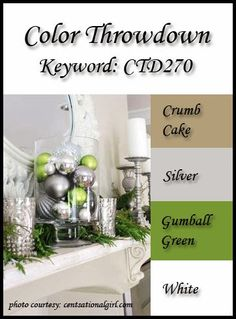 Color Throwdown: Color Throwdown #270 Countdown - Crumb Cake, Silver, Gumball Green, White