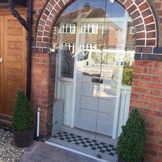 Glass Porch Doors in Leicester - a case study Front Door Porch, Porch Doors, House Front Door, House With Porch, House Doors, Entrance Doors, Doorway, Front Doors, Garage Doors