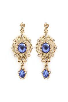 Eloise Earrings in Blue