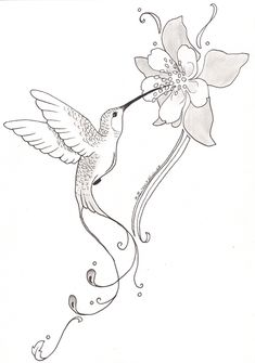 Hummingbird With Flower Tattoo | Posted by somasekhar at 23:13