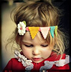Felt Flower Headband - $20.00, via Etsy.