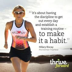Ironman Champion on Discipline.  For more on Hillary visit -Endurance Training: Sustain – With Special Guest, Hillary Biscay on Thrive Forward.com #VegaAmbassador