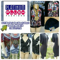 Visit Platinum Plush Fashions today for the hottest fashions!