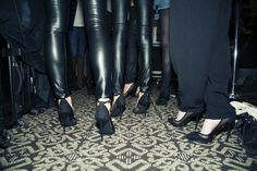 Models Backstage At Zana Bayne FW14 Show Wearing Shoe Cult (http://www.nastygal.com/by-nasty-gal-shoes)