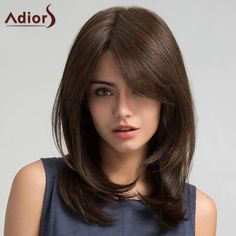 RoseWholesale - Rosewholesale Adiors Long Side Bang Straight Synthetic Wig - AdoreWe.com